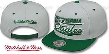 Eagles 'TAILSWEEP SNAPBACK' Grey-Green Hat by Mitchell and Ness