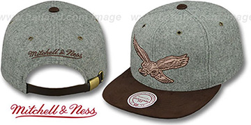 Eagles 'TC-BROWN SUEDE STRAPBACK' Hat Mitchell & Ness