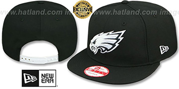 Eagles 'TEAM-BASIC SNAPBACK' Black-White Hat by New Era