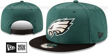 Eagles TEAM-BASIC SNAPBACK Green-Black Hat by New Era