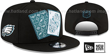 Eagles 'TEAM-CARDS SNAPBACK' Black Hat by New Era