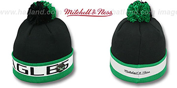 Eagles 'THE-BUTTON' Knit Beanie Hat by Michell and Ness