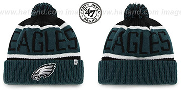 Eagles 'THE-CALGARY' Green-Black Knit Beanie Hat by Twins 47 Brand