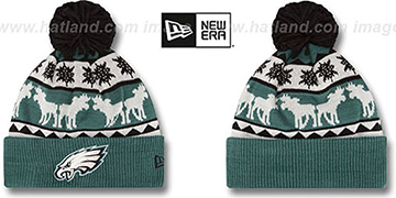 Eagles THE-MOOSER Knit Beanie Hat by New Era