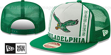 Eagles THROWBACK BANNER FOAM TRUCKER SNAPBACK Hat by New Era