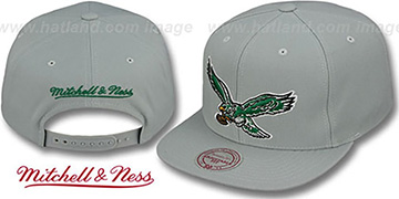 Eagles 'THROWBACK-BASIC SNAPBACK' Grey Hat by Mitchell & Ness