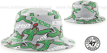 Eagles 'THROWBACK BRAVADO BUCKET' Hat by Twins 47 Brand