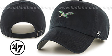 Eagles 'THROWBACK POLO STRAPBACK' Black Hat by Twins 47 Brand