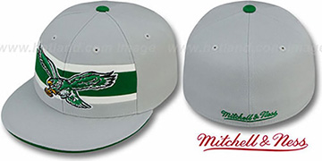 Eagles 'THROWBACK TIMEOUT' Grey Fitted Hat by Mitchell and Ness