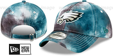 Eagles TIE-DYE STRAPBACK Hat by New Era