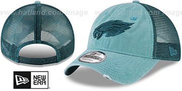 Eagles 'TONAL-WASHED TRUCKER SNAPBACK' Green Hat by New Era