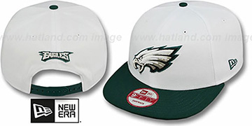 Eagles 'WHITETOP SNAPBACK' White-Green Hat by New Era