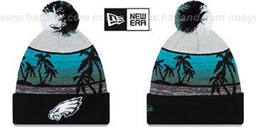 Eagles 'WINTER BEACHIN' Knit Beanie Hat by New Era