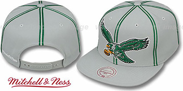 Eagles 'XL-LOGO SOUTACHE SNAPBACK' Grey Adjustable Hat by Mitchell & Ness