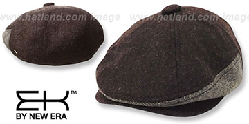 EK HERRING-HYBRID NEWSBOY Brown Hat by New Era