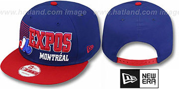 Expos 2T COOP BORDERLINE SNAPBACK Royal-Red Hat by New Era