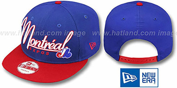 Expos 2T COOP CHARZ SNAPBACK Royal-Red Hat by New Era