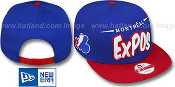 Expos '2T COOP DOPETASTIC SNAPBACK' Royal-Red Hat by New Era