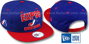 Expos COOP '2T PAYDIRT SNAPBACK' Royal-Red Adjustable Hat by New Era