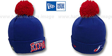 Expos COOP ARCHED-RIBBED Royal Knit Beanie Hat by New Era