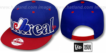 Expos COOP 'BIG CITY PUNCH SNAPBACK' Royal-Red Hat by New Era