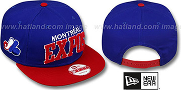 Expos COOP CHENILLE-ARCH SNAPBACK Royal-Red Hat by New Era