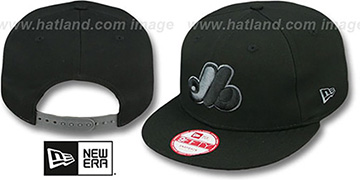 Expos 'COOP FADEOUT SNAPBACK' Black-Grey Hat by New Era