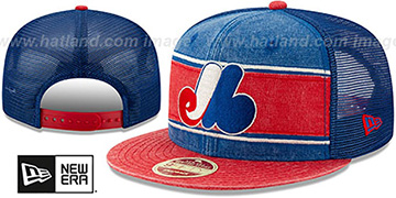 Expos COOP HERITAGE-BAND TRUCKER SNAPBACK Royal-Red Hat by New Era