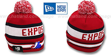 Expos Coop 'JAKE-3' Red Knit Beanie Hat by New Era