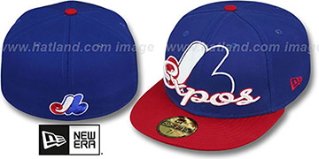 Expos COOP SCRIPT-PUNCH Royal-Red Fitted Hat by New Era