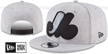 Expos 'COOP SILKED-XL SNAPBACK' Heather Light Grey Hat by New Era