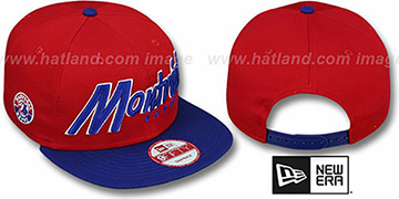 Expos COOP 'SNAP-IT-BACK SNAPBACK' Red-Royal Hat by New Era