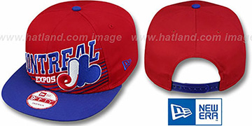 Expos COOP STILL ANGLIN SNAPBACK Red-Royal Hat by New Era