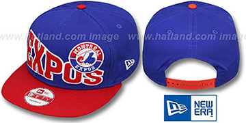 Expos COOP 'STOKED SNAPBACK' Royal-Red Hat by New Era