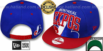 Expos COOP SUPER-LOGO ARCH SNAPBACK Royal-Red Hat by New Era