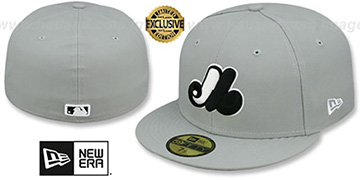 Expos 'COOP TEAM-BASIC' Grey-Black-White Fitted Hat by New Era