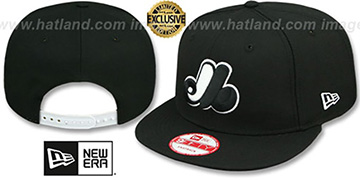 Expos COOP TEAM-BASIC SNAPBACK Black-White Hat by New Era