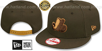 Expos COOP TEAM-BASIC SNAPBACK Brown-Wheat Hat by New Era