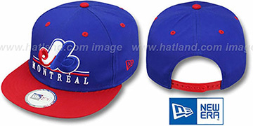 Expos COOP UNDERLINE SNAPBACK Royal-Red Hat by New Era