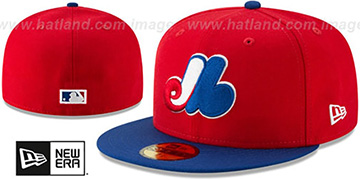 Expos 'COOPERSTOWN-PACK' Red-Royal Fitted Hat by New Era