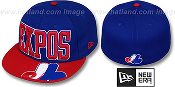 Expos 'EPIC WORD' Royal-Red Fitted Hat by New Era