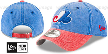 Expos 'GW COOP RUGGED CANVAS STRAPBACK' Royal-Red Hat by New Era