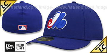 Expos LOW-CROWN 1969-2004 COOPERSTOWN Fitted Hat by New Era