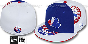 Expos 'ORLANTIC-3' Royal-White Fitted Hat by New Era