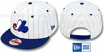 Expos 'PINSTRIPE BITD SNAPBACK' White-Royal Hat by New Era