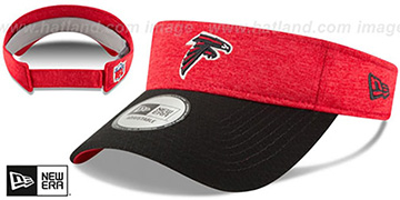 Falcons '18 NFL STADIUM' Red-Black Visor by New Era