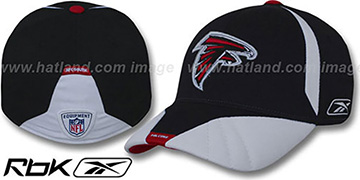 Falcons '2008 SIDELINE-1 FLEX' Black Hat by Reebok