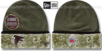 Falcons 2014 SALUTE-TO-SERVICE Knit Beanie Hat by New Era