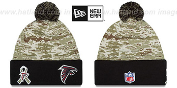 Falcons 2015 SALUTE-TO-SERVICE Knit Beanie Hat by New Era