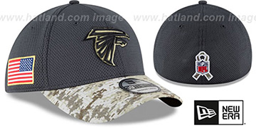 Falcons '2016 SALUTE-TO-SERVICE FLEX' Grey-Desert Hat by New Era